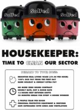 Kampagne der Reinigungskräfte in Brighton (SolFed-IAA)